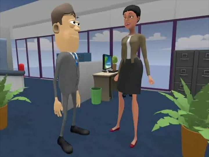 Scenario image from Sexual Harassment in the workplace