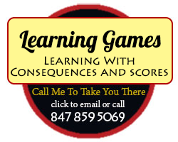 Learning Games: Learning with consequences and scores