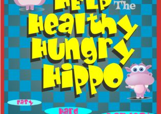 Help the Healthy Hungry Hippo videogame screen